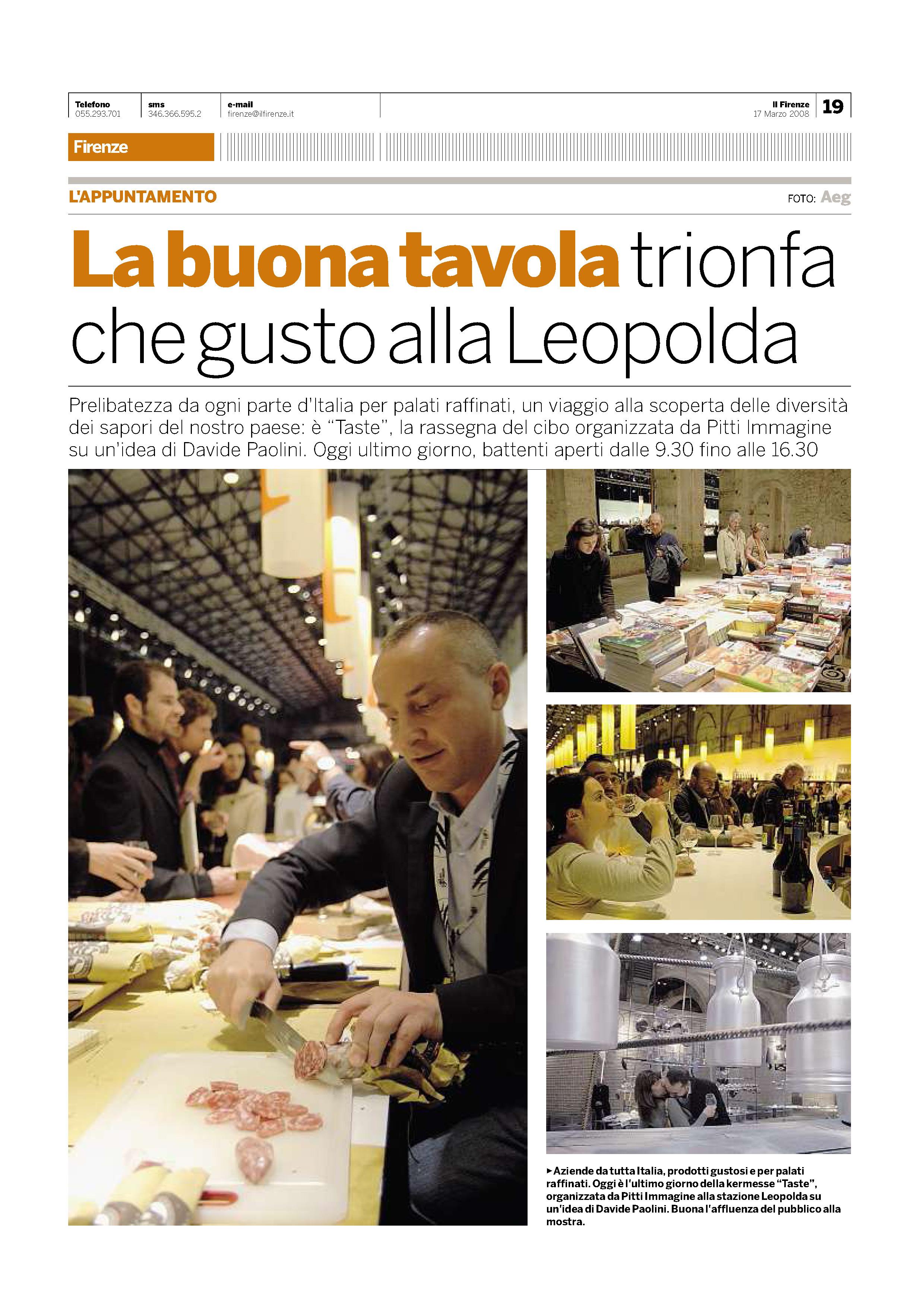 Il Firenze del 17 Marzo 2008