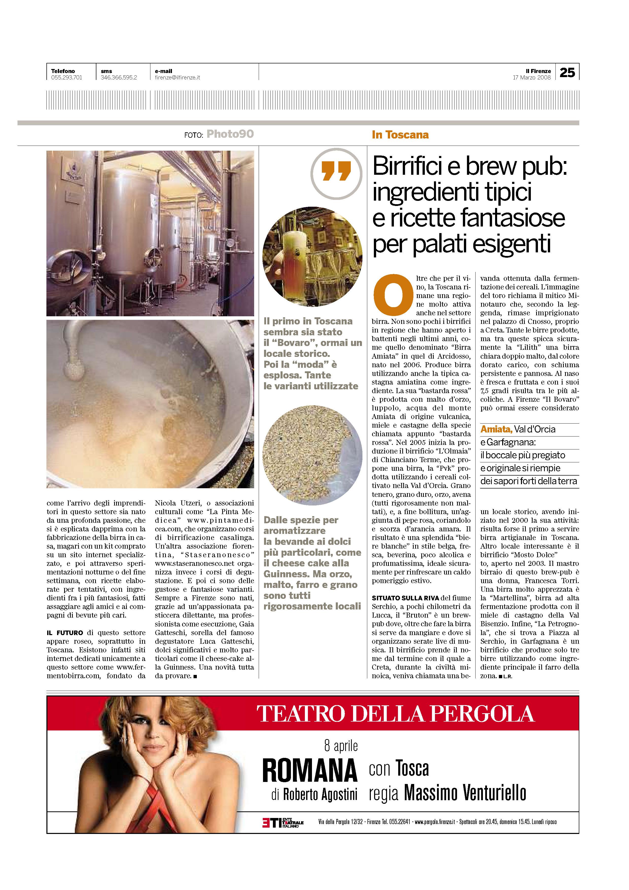 Il Firenze del  17-03-2008
