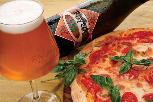La Pizza regina abbinata alla birra Ur del Rhyton