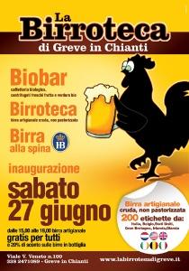 Sabato 27 Giugno 2009 aprirà LA BIRROTECA a Greve in Chianti