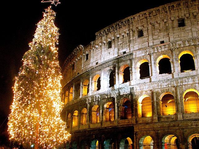 празднование Рождества в Риме