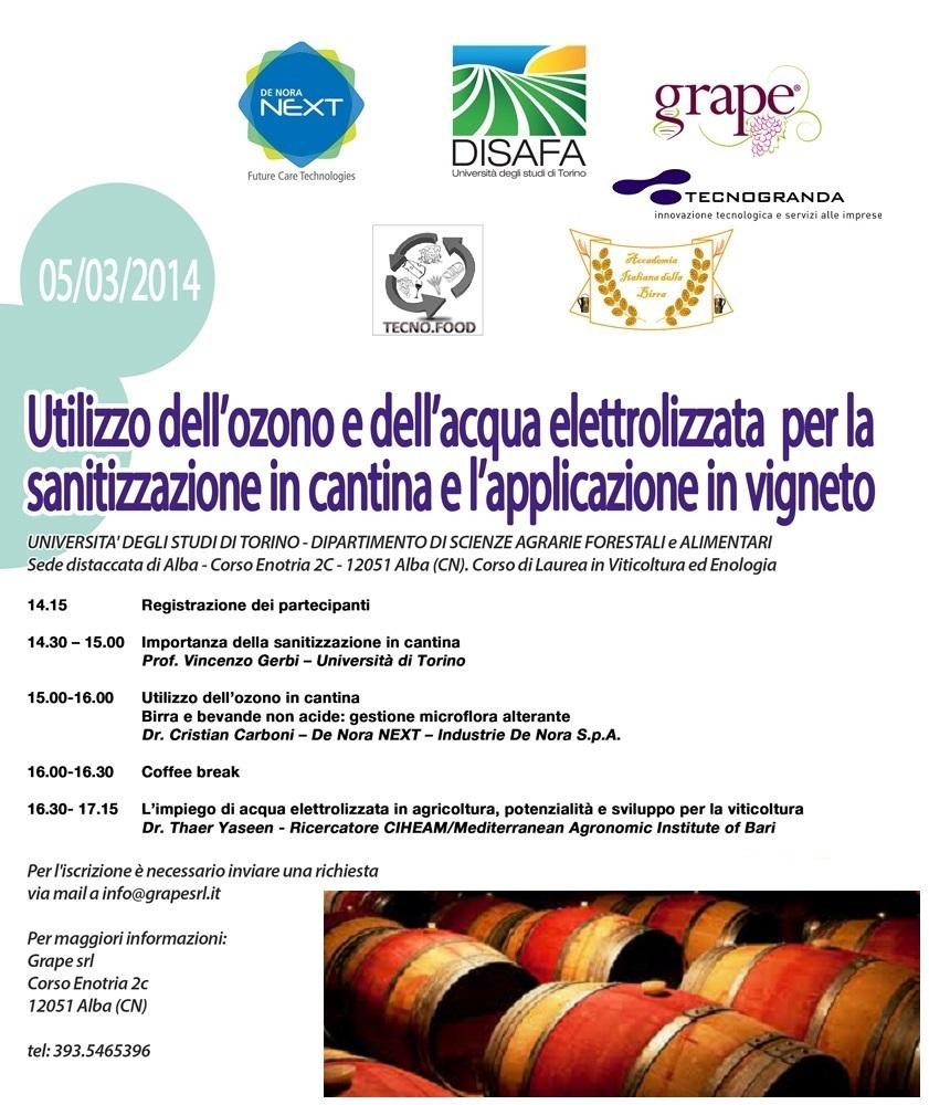 sanitizzazione tramite ozono nel comparto alimentare e vitivinicolo