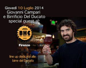 Serata con le birre e il birraio: Giovanni Campari e il Birrificio del Ducato