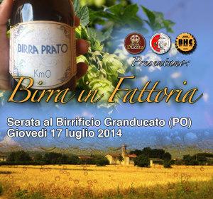 Birra (artigianale) in Fattoria: giovedì 17 luglio 2014