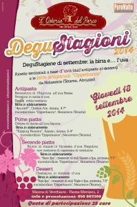 """A Pisa """"Le DeguStagioni"""": birre Opperbacco e piatti con UVA"""