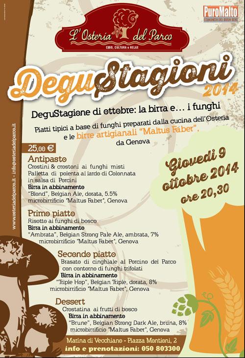 Calendario Funghi.Degustagione Di Ottobre La Birra E I Funghi