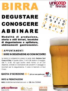 Birra: degustare, conoscere, abbinare. Corso I° livello a Pisa