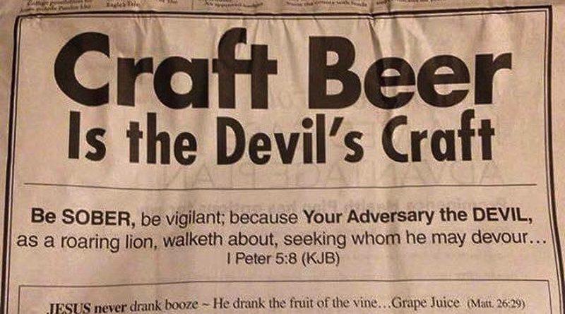 La Birra Artigianale è opera del Diavolo!