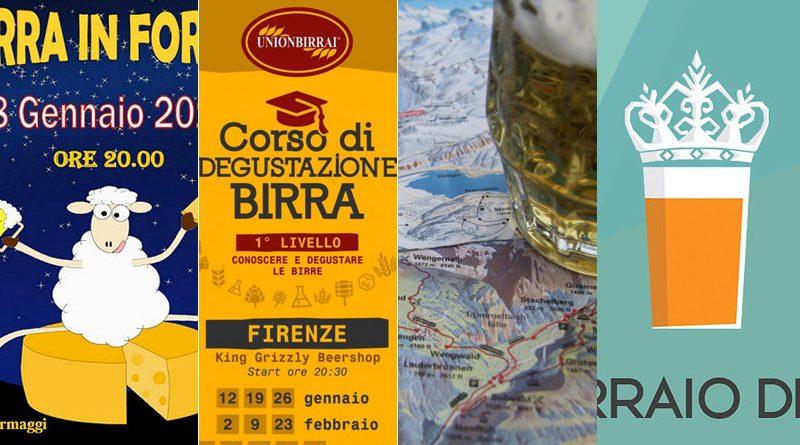 Eventi e Corsi sulla Birra Gennaio 2017