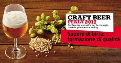 Craft Beer Italy 2017: conferenza per la formazione professionale e l'aggiornamento dei birrifici