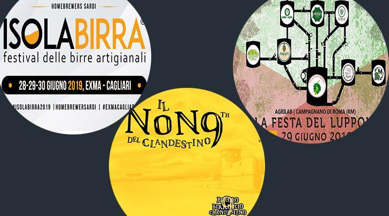 Tre eventi di birra artigianale per la fine di Giugno: Isolabirra, La Festa del Luppolo e il Nono del Clandestino