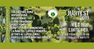 Esce la Harvest 2019 con luppoli dei soci dell'Associazione ALI produttori di luppolo italiani