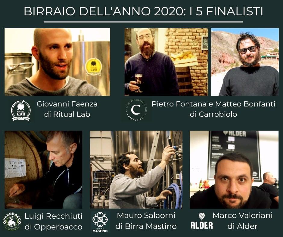 Birraio dell'Anno 2020 i 5 finalisti al premio