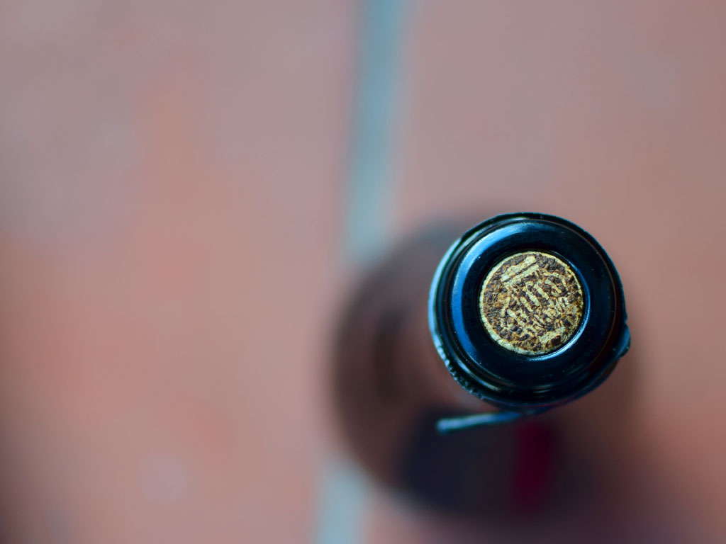 Opera Birra Baladin una birra artigianale all'aceto di birra - dettaglio sughero