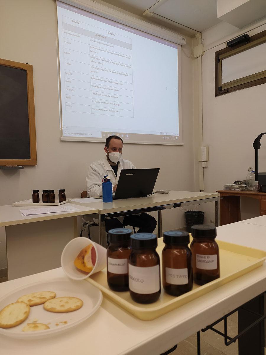 L'aula di degustazione del SensoryLab