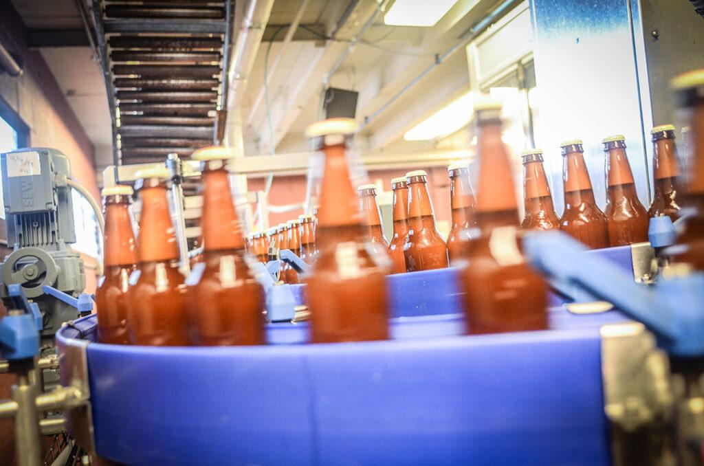 Linea di produzione birra
